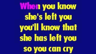 Paul Anka - It's Time To Cry karaoke