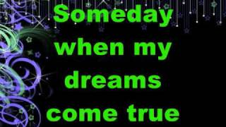 "Ashley tisdale- ""Someday My prince Will Come"" with lyrics (HQ) (On Screen)"