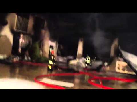 Incendio impresa a Malnate
