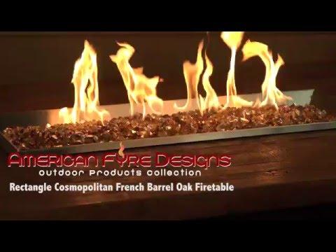 Rectangle Cosmopolitan French Barrel Oak Firetable