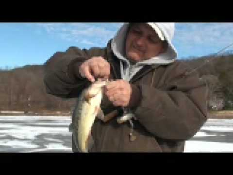 Hatch Pond kent ct ice fishing bass