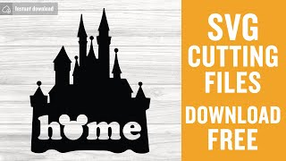 Disney Castle Free Svg Cutting Files For Silhouette Free Download