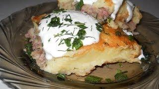 Картофельная запеканка с мясом. Рецепт