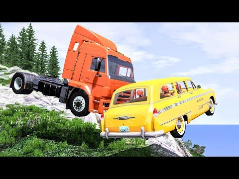 Realistic Cliff Drops #7 - BeamNG Drive Crashes | CrashBoomPunk