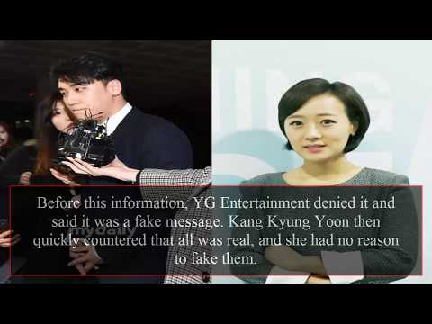 Kang Kyung Yoon's reply letter after denouncing Seungri's guilt