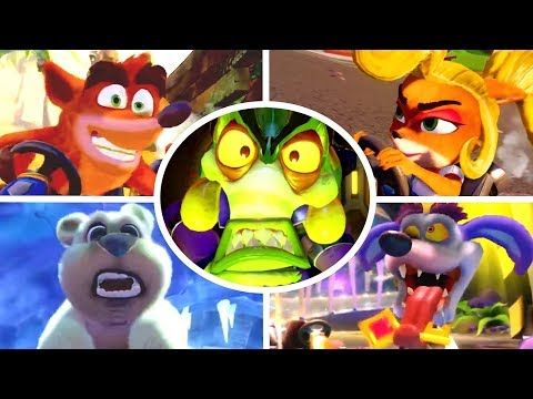 Crash Team Racing Nitro-Fueled - All Characters Tr   Youtube