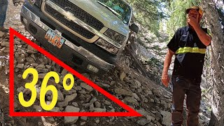 So we got a call for a Chevy Silverado that was stuck on the top of Boulder Mountain.  The owner had slid off the road back in the fall of 2019 The truck came to rest in a very precarious position.  He was able to hike out to Highway 12.  He had one towing company go and look and four others that just refused.  The forest service was threatening to fine him if he didn't get it removed.  We were unfamiliar with the area and everybody we talked to made it sound like there's no way we would get it out, because of that we were a little apprehensive going in.  It was about 60 miles of rough dirt road, which was doable in a stock pick up.  About a block from the truck we got to the top of the mountain with some of the most amazing views on planet Earth.  This truck was down an extremely Steep and off-camber Trail and then off the side at about 45 degree angle. Paul and Matt were able to get it rigged up and winched out of there.  It actually went rather easy. Surprisingly the truck started and we were able to drive it out.