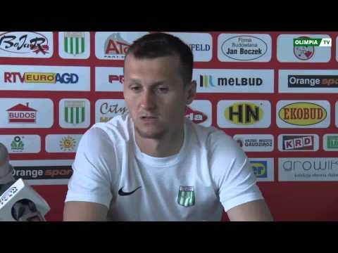 Konferencja prasowa Olimpii Grudziądz przed meczem ze Stomilem Olsztyn