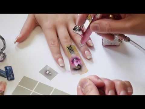 Psoriasi di trattamento di unghie fotografia fissa