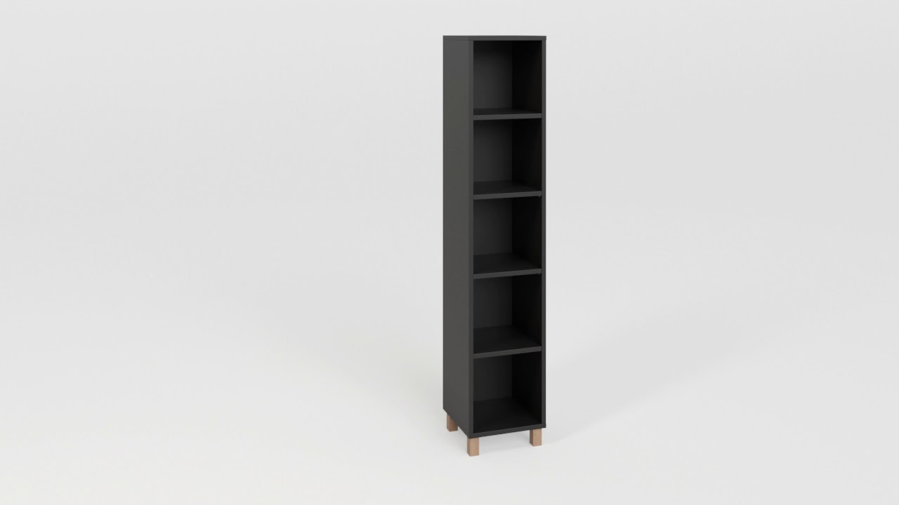 Simple Narrow Single Bookcase