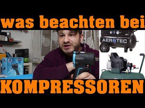 DRUCKLUFTKOMPRESSOR - KAUFBERATUNG | WAS IST SO WICHTIG!!!