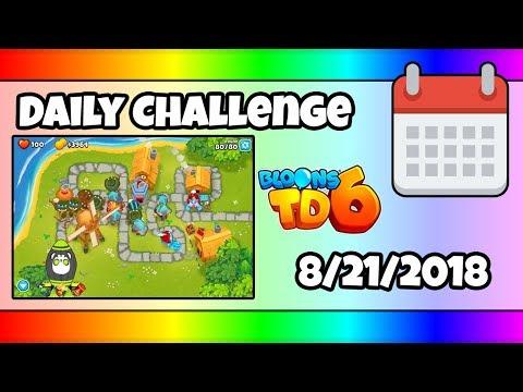 Bloons TD 6 DAILY CHALLENGE - August 4, 2018 - смотреть