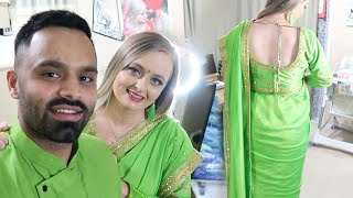 MY BRITISH WIFE WEARS A SAREE FOR THE FIRST TIME | She Looked Amazing 😍