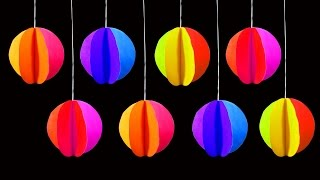 How To Make Simple Hanging Christmas Ornaments (Christmas Crafts) : HD