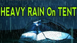 🎧 Heavy Raindrops Sound On Tent | Ambient Noise For Relaxing, Focus or Sleep, @Ultizzz day#15