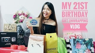 My 21st Birthday Gift Unwrapping Vlog | Sueannxoxo