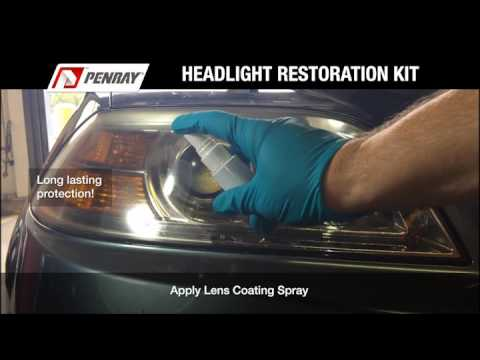Penray 8405 2-Step Headlight Restoration Kit