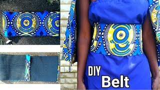 DIY Ankara Wax African Print BELT With Elastic