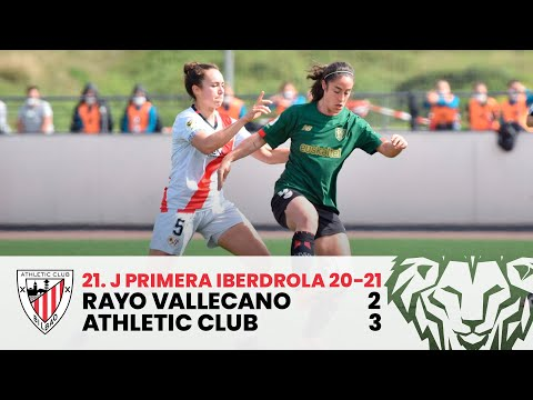 ⚽ RESUMEN I Rayo Vallecano 2-3 Athletic Club I J21 Primera Iberdrola 2020-21
