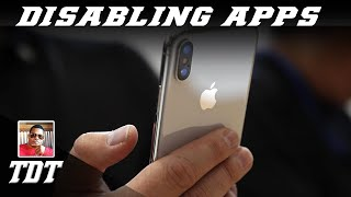 How To Disable Apps On Your iPhone   Tutorial