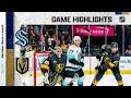 Kraken @ Golden Knights 10/12/21 | NHL Highlights