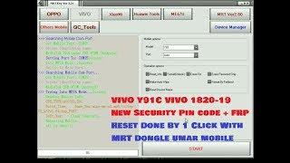Vivo Y91c (VIVO 1820) Remove Pin Lock    Unlock FRP one