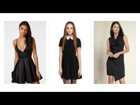 Sommerkleidschwarz, schwarzes kleid kurz, schwarzes abendkleid