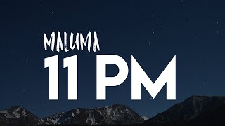 MALUMA   11 PM ( LETRA LYRICS + ENGLISH TRANSLATION)