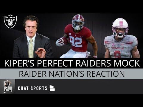 Perfect Oakland Raiders 2019 Mock Draft According To Mel Kiper Jr - How Did Raider Nation React?