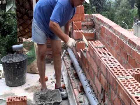 Cómo hacer una pared de ladrillo perforado video nº 7