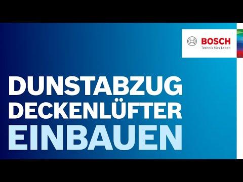 Installationsvideo Deckenlüfter Bosch
