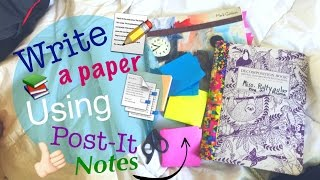 How to write a paper with Post-it or Sticky Notes // Tutorial + Study Hacks