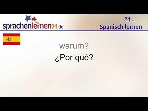 Spanisch lernen (Teil 3)
