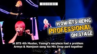 How BTS Being Professional On Stage (BTS Reaction To Difficulty) #1