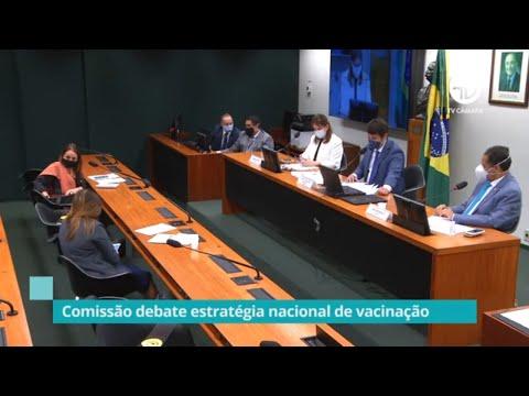 Comissão debate estratégia nacional de vacinação - 05/08/20