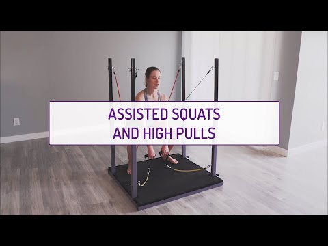 Assisted Squats and High Pulls
