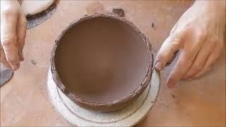 Handbuilding A Round Bottomed Coil Pottery Bowl Start To Finish Part Two