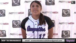 2025 Ava Montesdeoca 3.5 GPA - Athletic Pitcher and Shortstop Softball Skills Video - Ca Grapettes