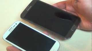 Galaxy Note II VS iPhone 5 Comparativas - YouTube