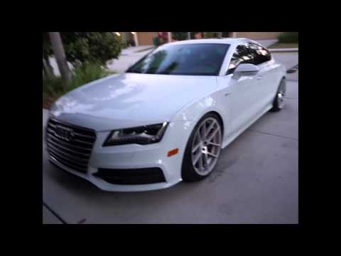 Stanced Audi A7 Transformation M510 Avant Garde H&R Coilovers