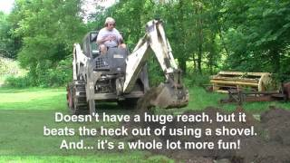 128 RSW S175 Bobcat and 607 Backhoe Attachment