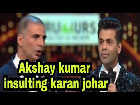 Akshay kumar make fun of karan johar film, Ae dil ae mushkil, award show viral akshay karan