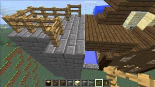 preview picture of video 'Minecraft Lets Build a Village-Part 5-Blocks'