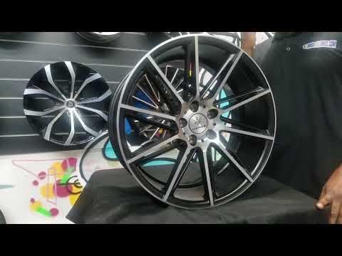 DUBSandTIRES.com 20 inch Verde Quantum Black Machine Wheels Honda Accord Toyota Camry Nissan Altima