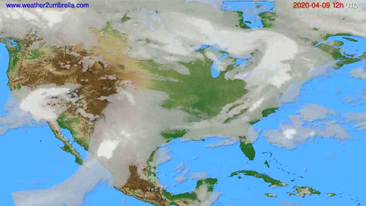 Cloud forecast USA & Canada // modelrun: 00h UTC 2020-04-09