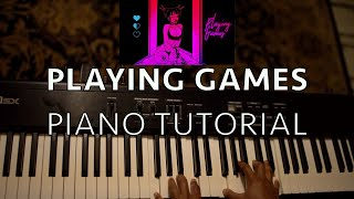 How To Play Playing Games By Summer Walker   Easy Piano Tutorial