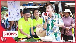 Hồ Việt Trung vừa hát vừa rao bán bánh hẹ, Lâm Vỹ Dạ - Hứa Minh Đạt phụ họa siêu lầy lội