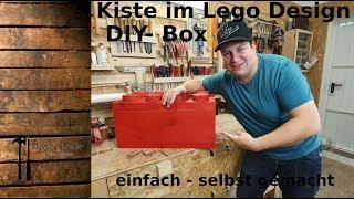 """Kiste im """"Lego Design"""" - Kreise schneiden an der Tischkreissäge - DIY Kiste"""