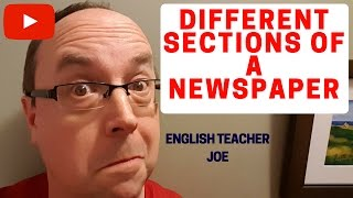 Learn English: Different Sections of a Newspaper