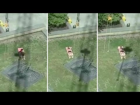 Tower Crane operator ruins Londoner's sunbathing attempt